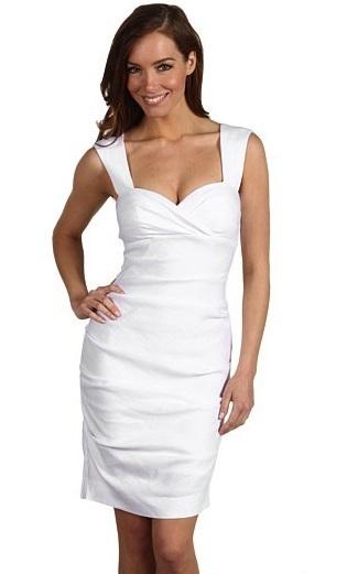 2014 Beyaz Bayan Elbise Modelleri